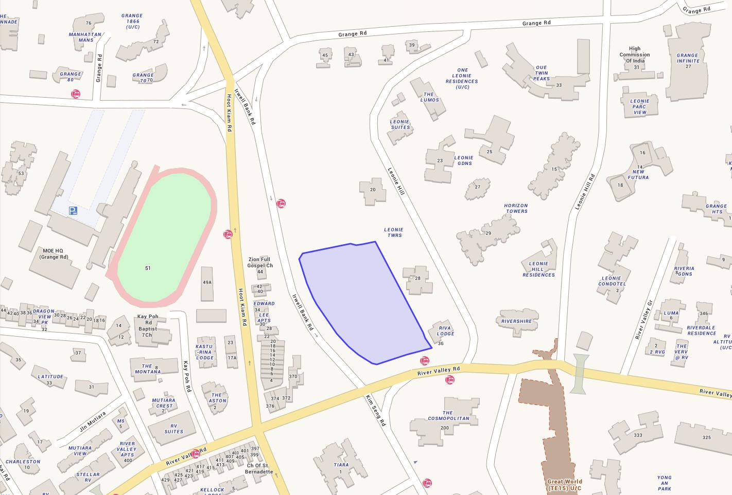 Location Map Around Irwell Hill Residences Condo